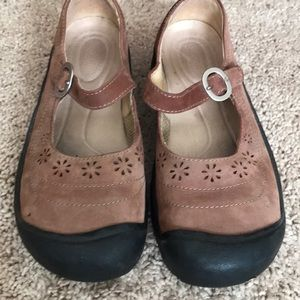 Keen brown Mary Janes